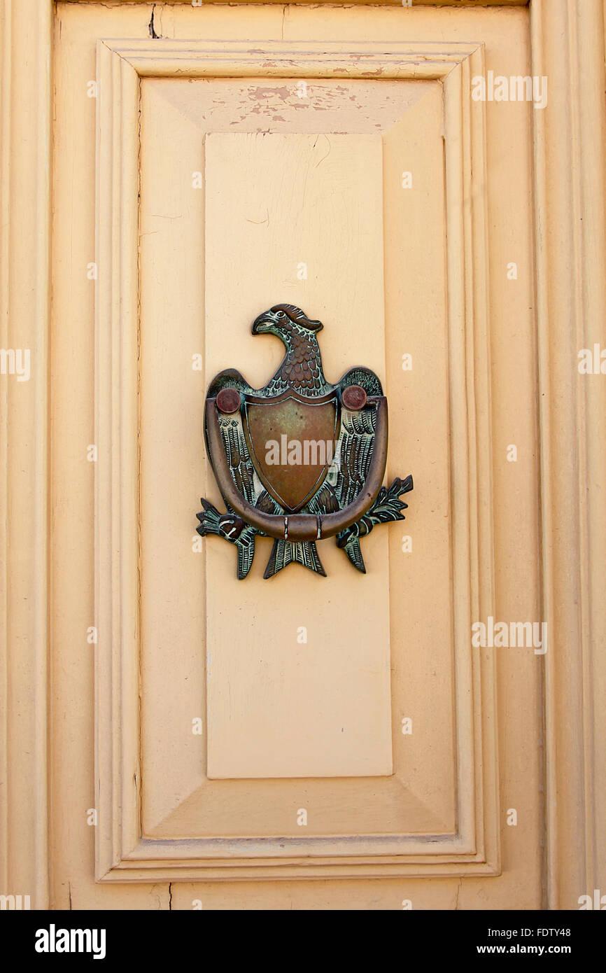 Traditional phoenix door knocker - Stock Image & Antique Brass Door Knocker Stock Photos u0026 Antique Brass Door Knocker ...