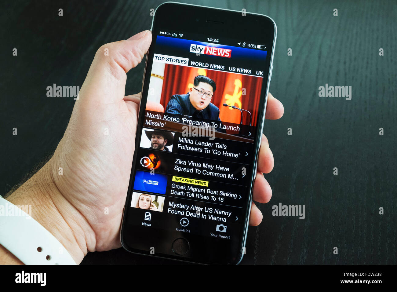 4f349947b6346d SKY news online news app on iPhone 6 plus smart phone Stock Photo ...
