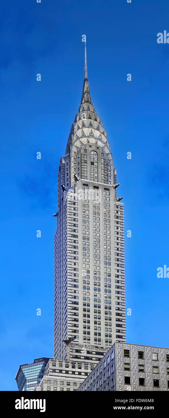 NEW YORK, USA - August 19 ,2015: Chrysler building in New York, was the world's tallest building before the - Stock Image