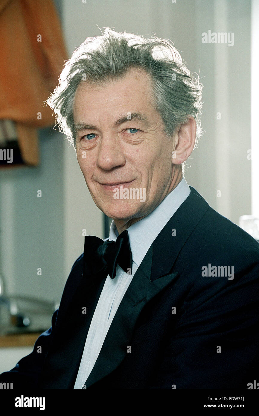 Sir Ian McKellen, English Actor, having a tuxedo fitted at ...
