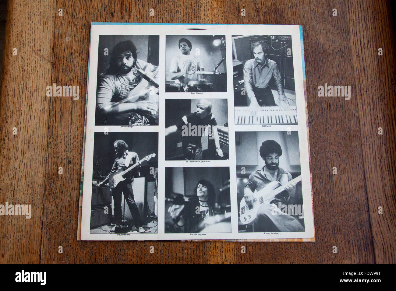 Liner for Little Feat's 1977 album Time Loves a Hero - Stock Image