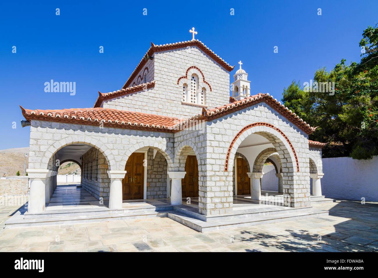 Church of Saint Konstantinos of Hydra, Hydra Island, Greece - Stock Image