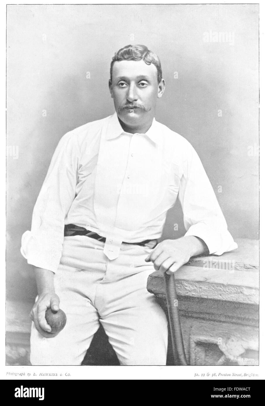 AUSTRALIA CRICKET: GHS Harry TROTT- all-rounder; slow leg- breaks Victoria, 1896 - Stock Image