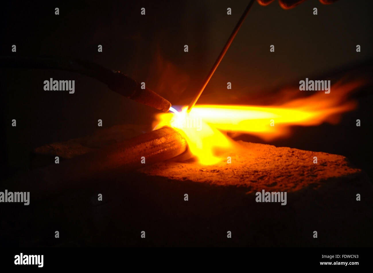 Welding pipe - Stock Image