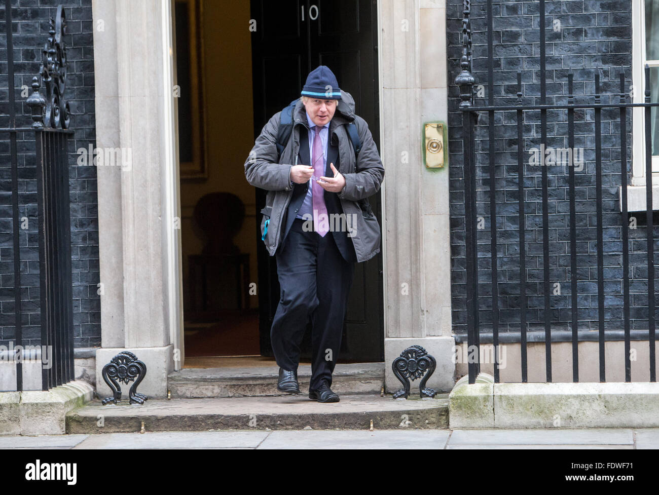 Boris Johnson,Mayor of London and MP for Uxbridge and South Ruislip,at Number 10 Downing Street for a Cabinet meeting - Stock Image