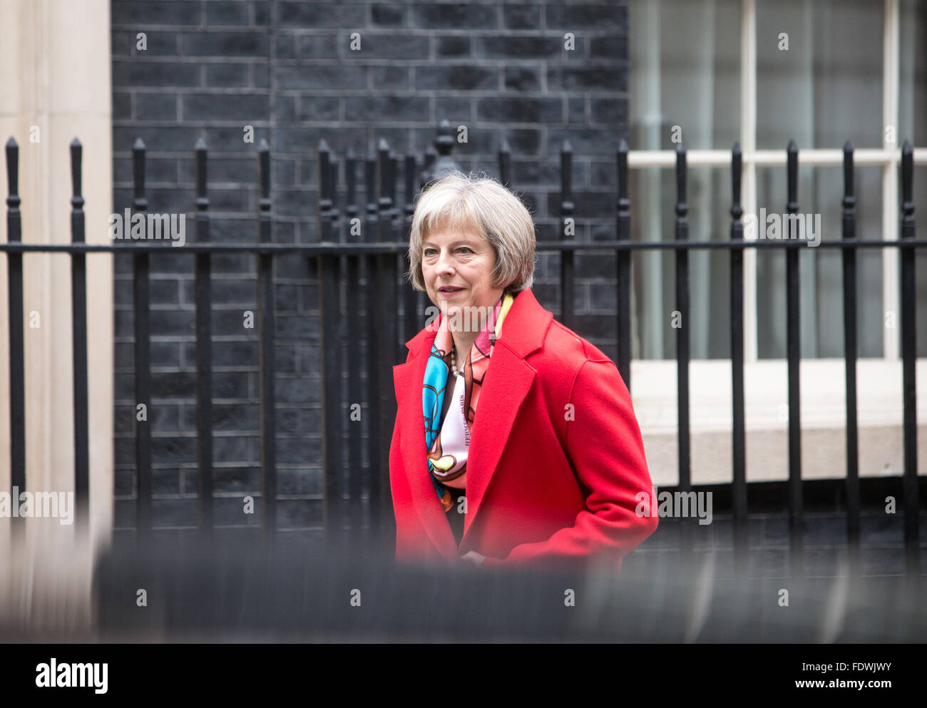 Theresa May,Home secretary, arrives at 10 Downing Street for a cabinet meeting - Stock Image