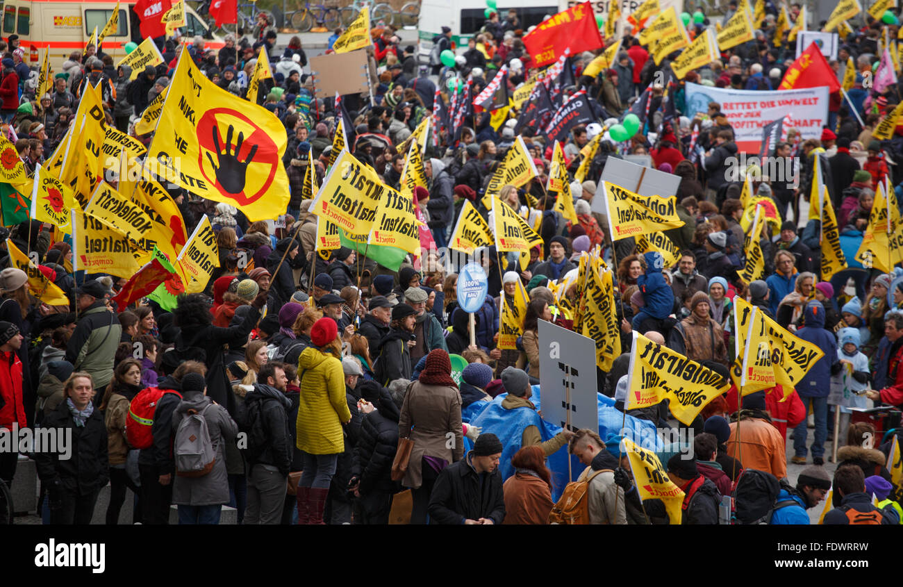 Berlin, Germany, Global Climate March in the government district Stock Photo