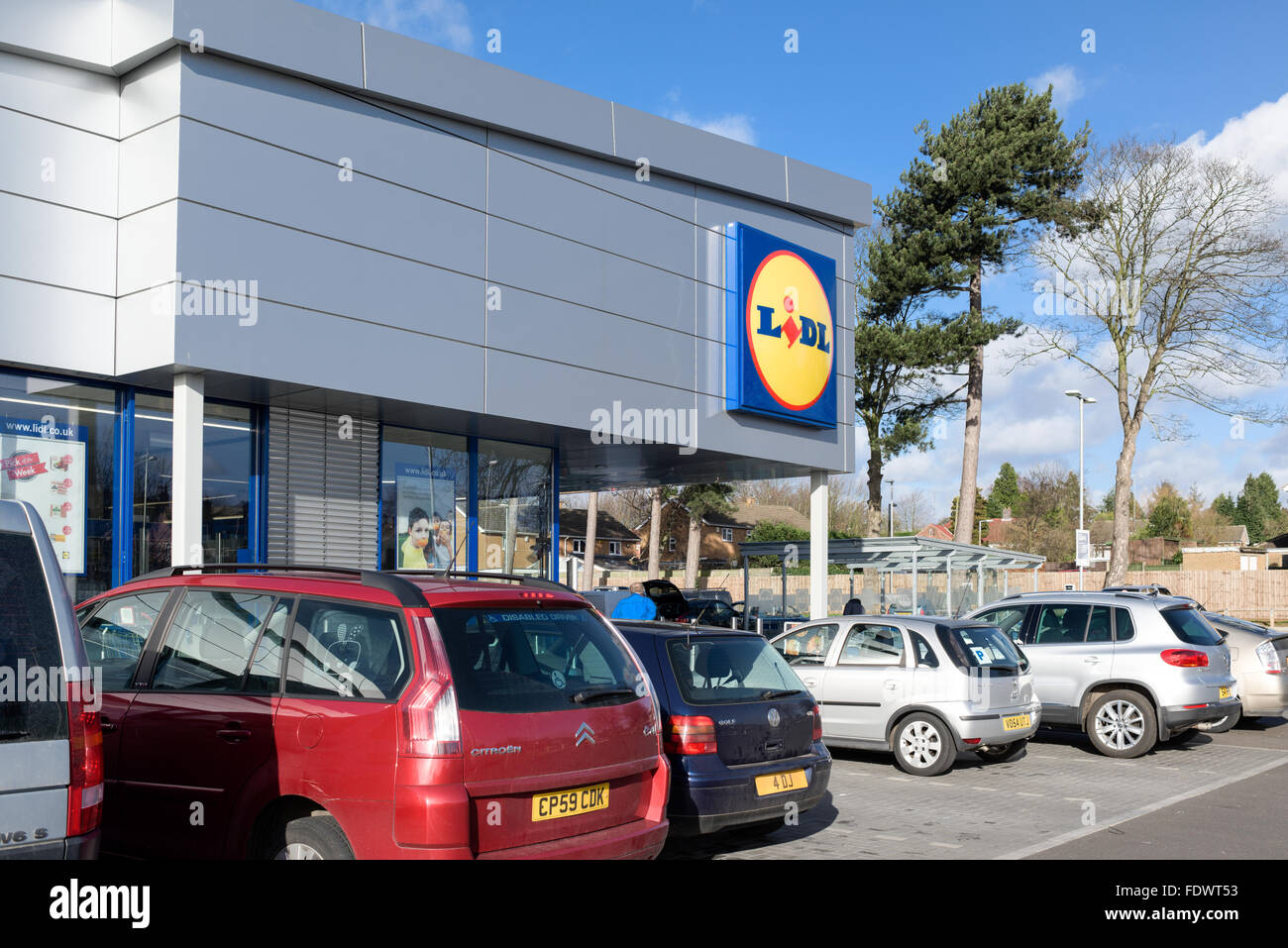 Lidl Supermarket Arnold,Nottingham,UK. - Stock Image