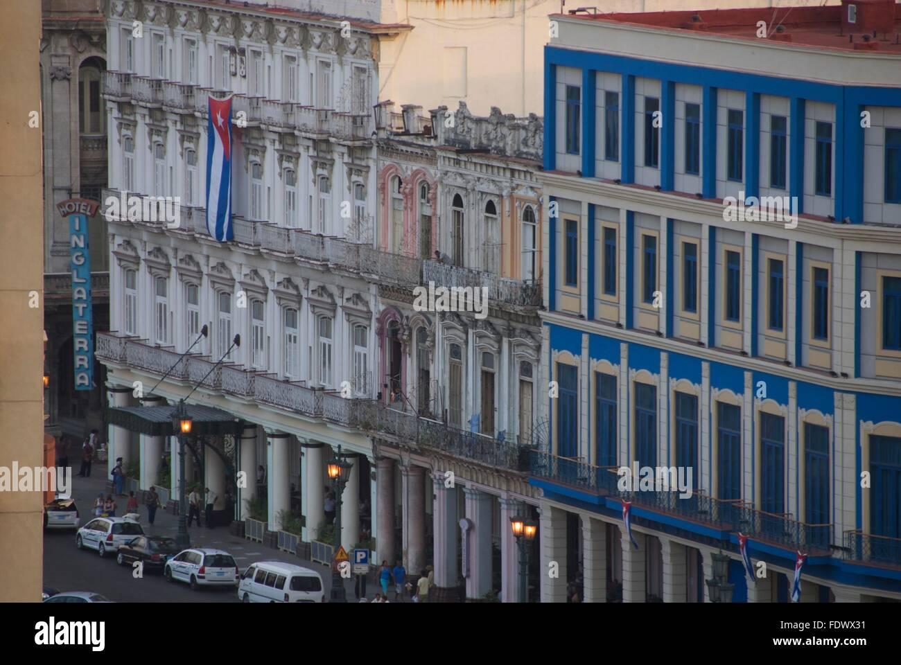 The Inglaterra hotel in Havana, Cuba - Stock Image
