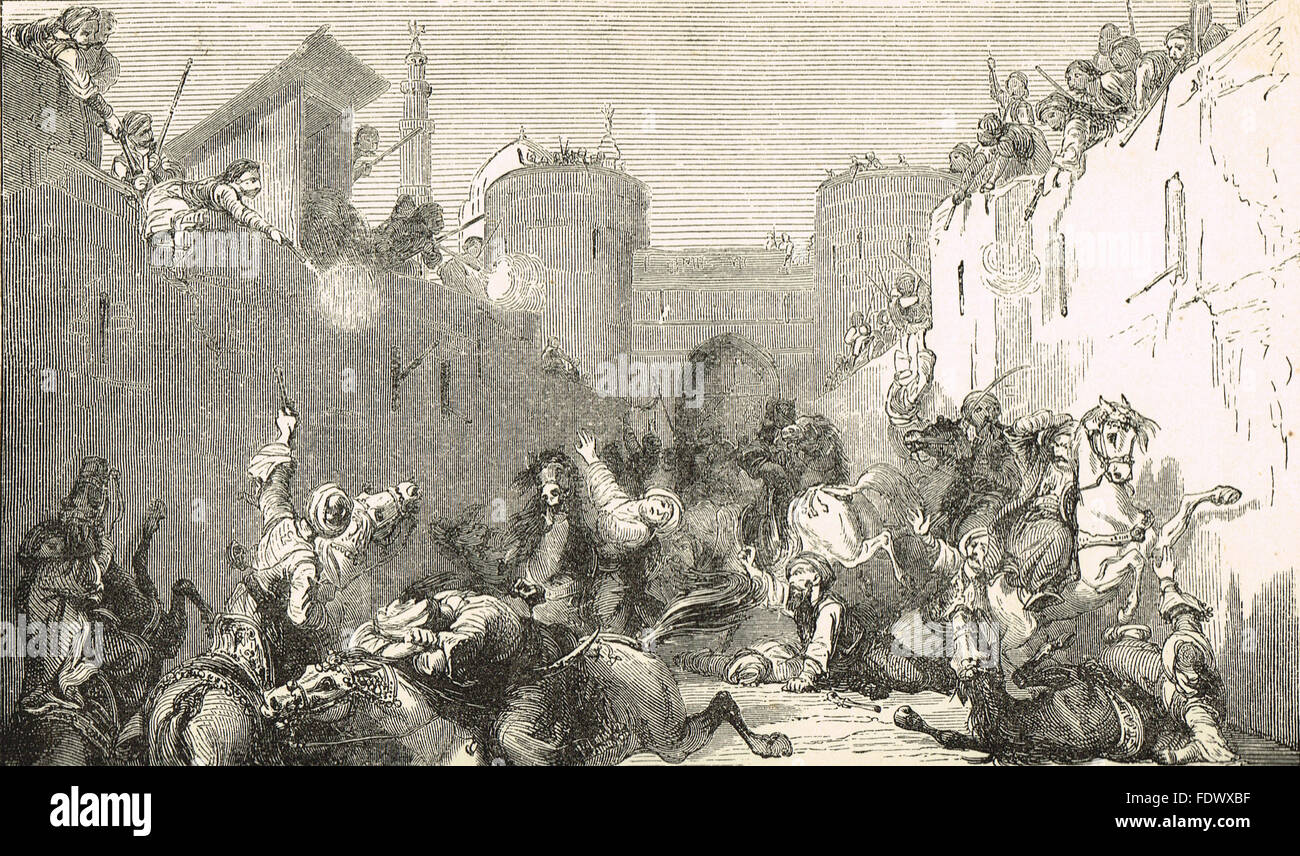 Massacre of the Mamluks Cairo Egypt 1811 Stock Photo