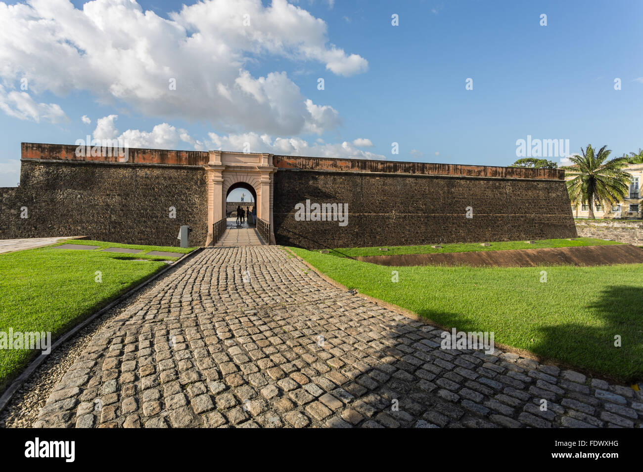 Forte do presépio (Fort of the Nativity) in the historical center of Belém, in the state of Pará, - Stock Image