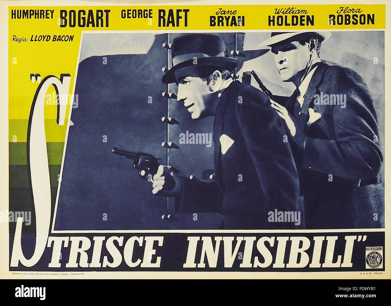 Invisible Stripes - Italian Movie Poster - Stock Image