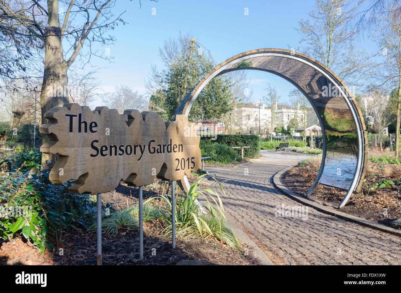 entrance to the sensory garden in jephson gardens leamington spa - Sensory Garden
