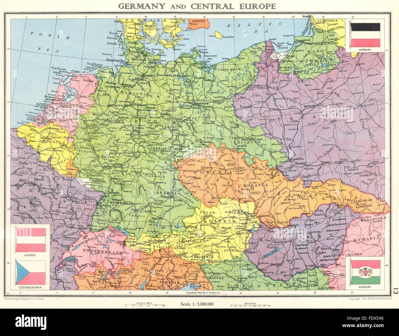 Map Of Germany 1938.Germany Central Europe Shortly Before World War 2