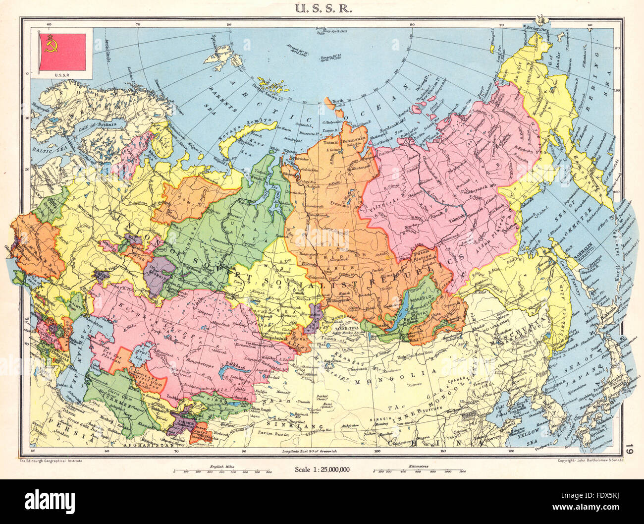 Soviet Union Map Stock Photos Soviet Union Map Stock Images Alamy