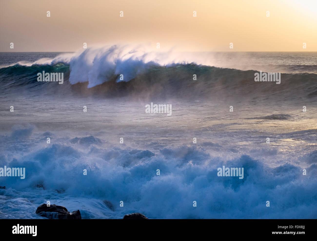 Ocean waves, Atlantic, Valle Gran Rey, La Gomera, Canary Islands, Spain Stock Photo