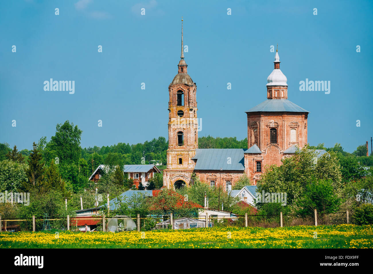 Church of Saints Boris and Gleb in Suzdal, Russia - Stock Image