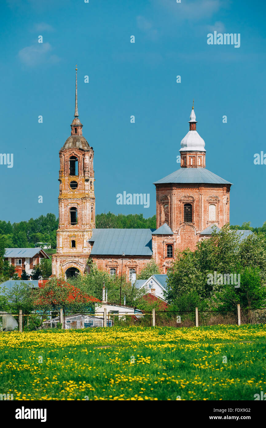 Church of Saints Boris and Gleb in Suzdal, Russia. Golden Ring of Russia - Stock Image