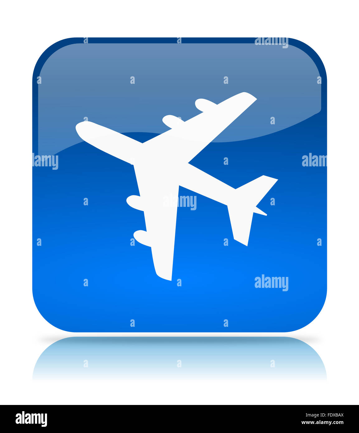 Blue Flights App Icon Illustration On White Background
