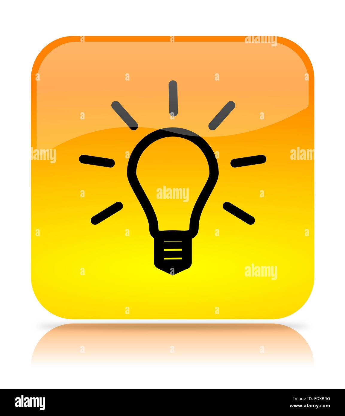 Icon lighting Light Bulb Yellow Light Bulb App Icon Illustration On White Background Behance Yellow Light Bulb App Icon Illustration On White Background Stock