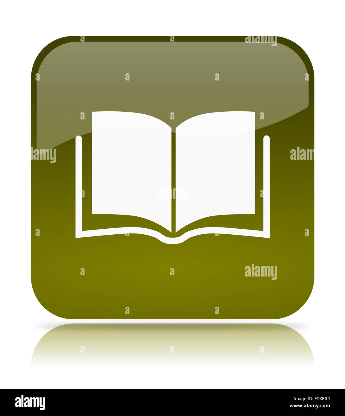 Green Book App Icon Illustration On White Background Stock Photo Alamy