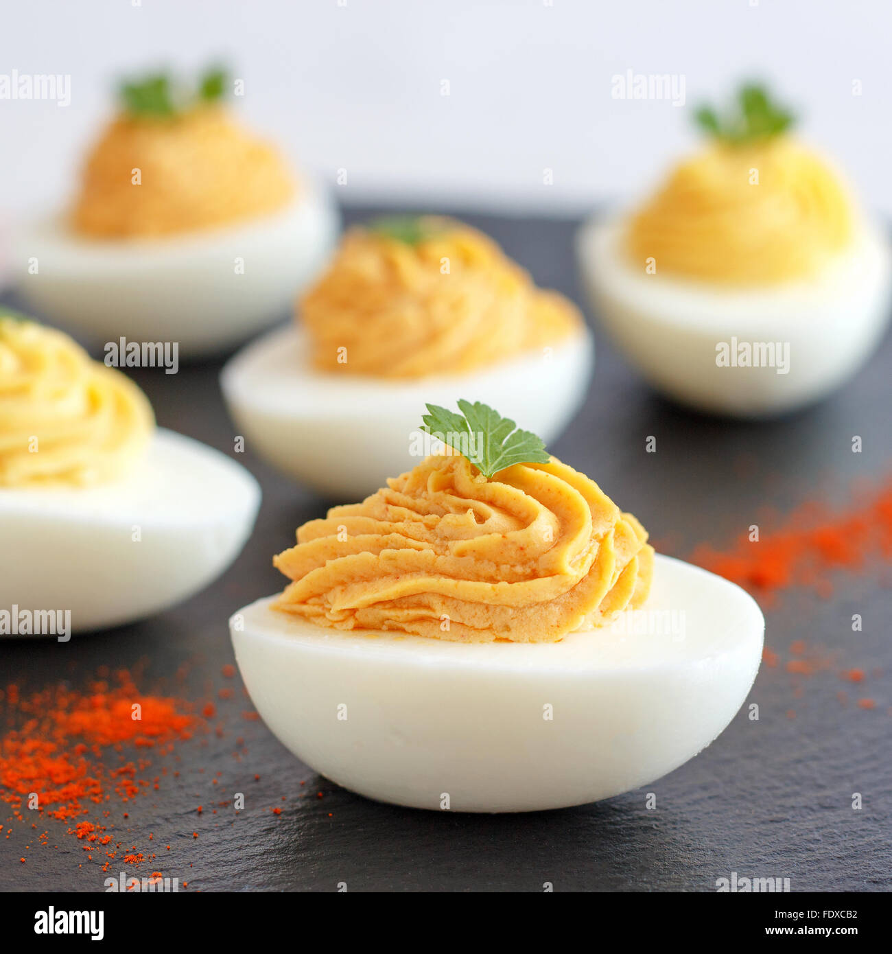 Deviled Eggs (Party Food) - Stock Image