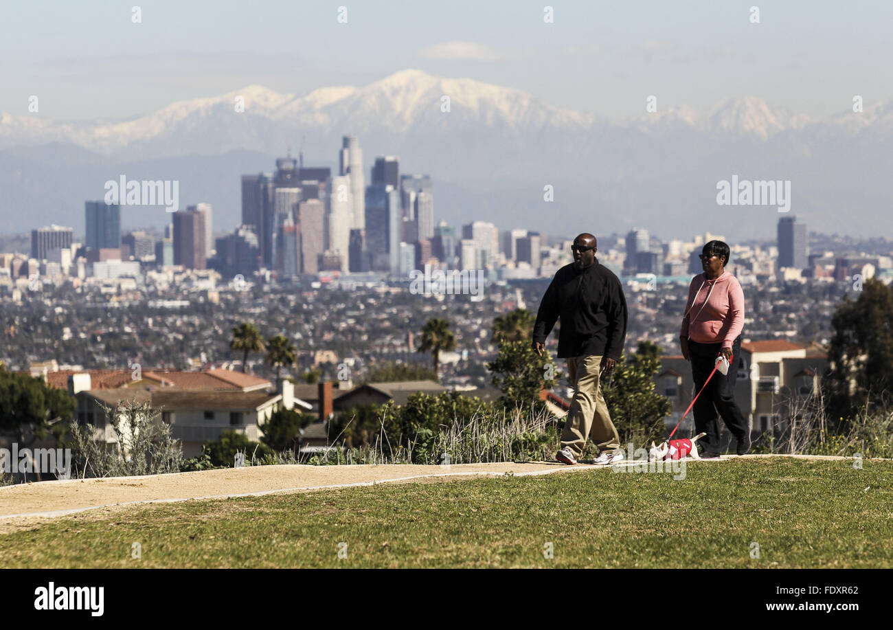 Downtown Los Angeles Weather Forecast Stock Photos