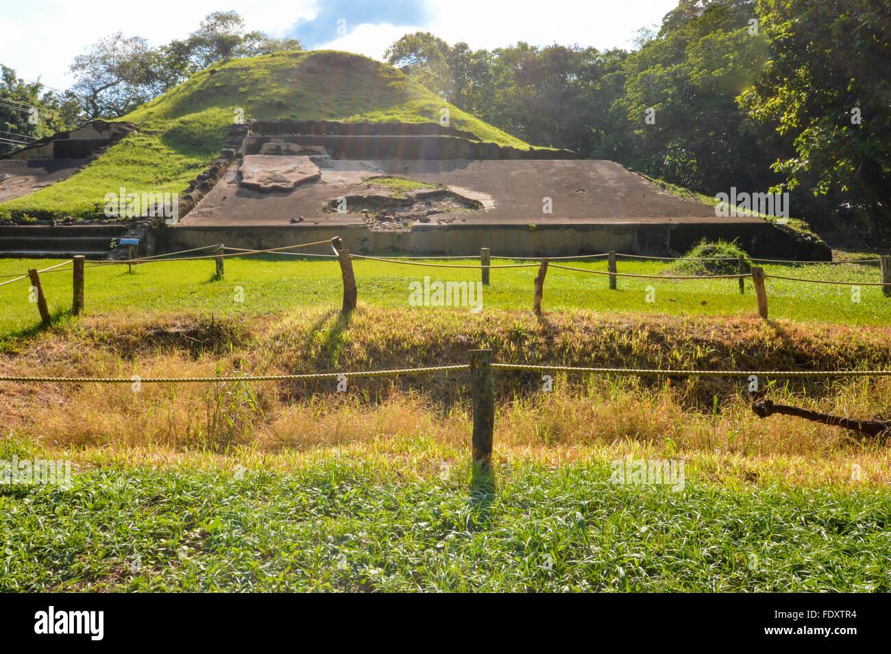 Casa Blanca archaeological site of Maya civilization in El Salvador - Stock Image
