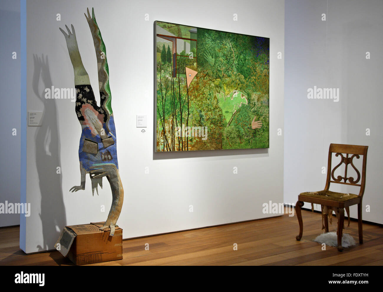 Works by Basque artists in the San Telmo museum, Donostia- San Sebastian, Basque country, Spain. - Stock Image