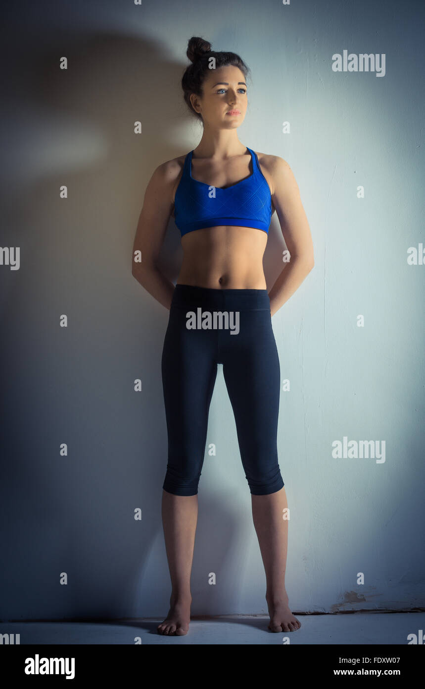 Toned Legs High Resolution Stock Photography And Images Alamy I've found that the best way to get a muscle to tone up without increasing it's size is by doing strength training. https www alamy com stock photo female with toned and slim body 94632727 html