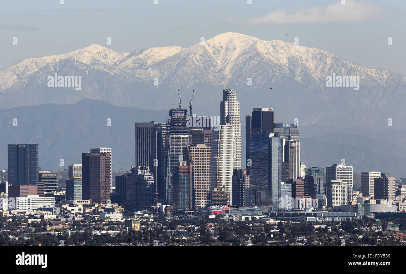 Downtown Los Angeles Weather Forecast Stock Photos & Downtown Los
