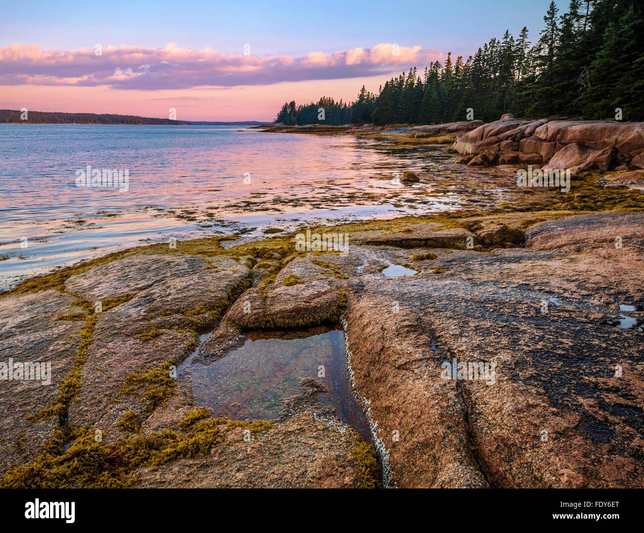 Deer Isle, Maine: Sunrise on Jericho Bay - Stock Image