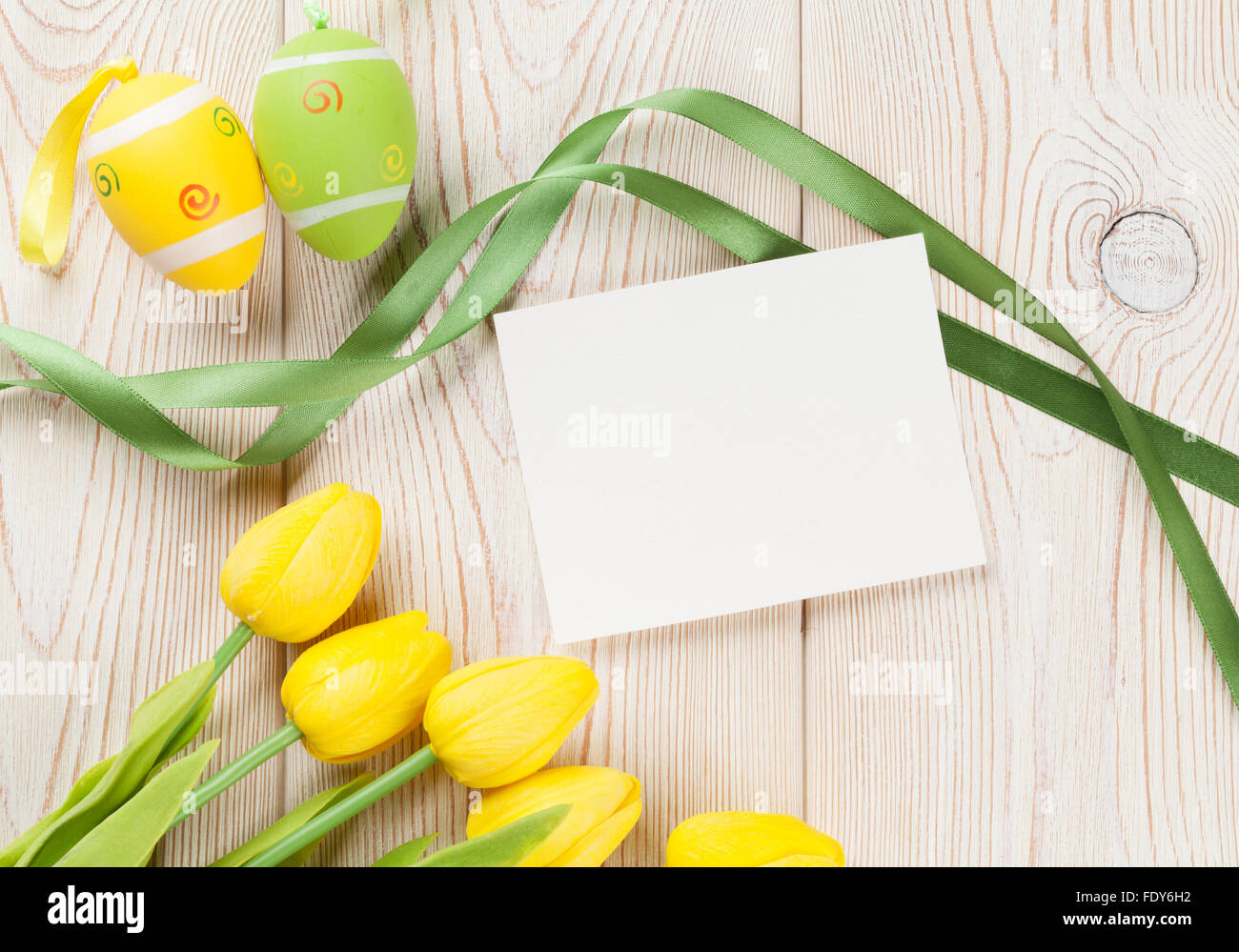 Yellow Tulips Blank Greeting Card Stock Photos Yellow Tulips Blank