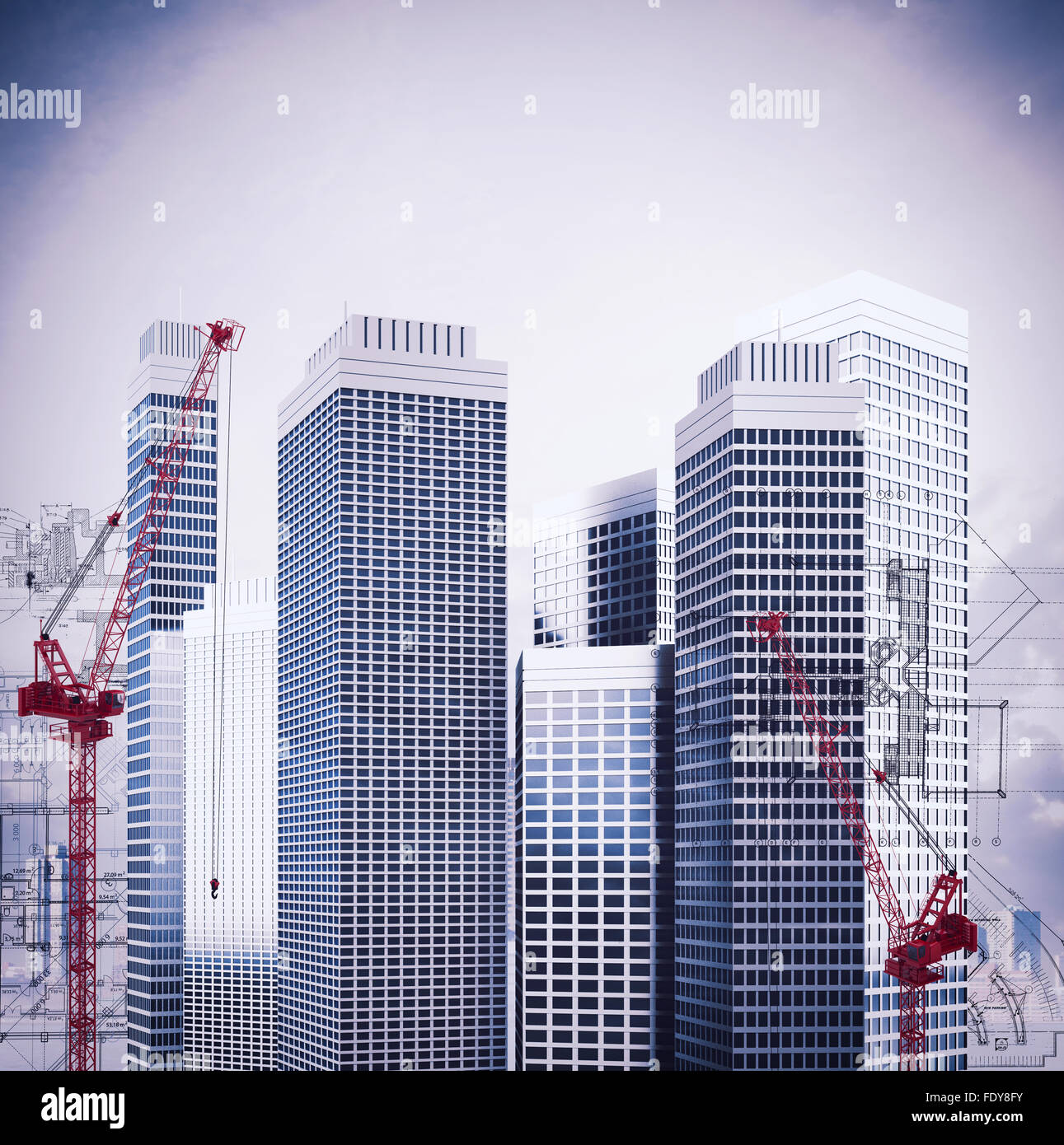 Ongoing construction - Stock Image