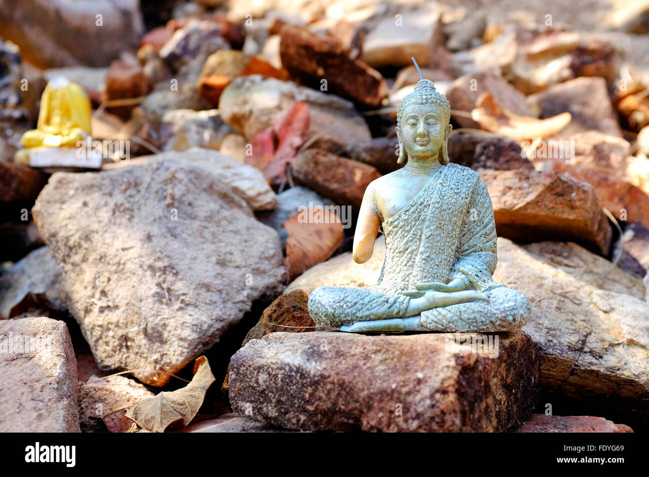 Figurine of Buddha in the Doi Suthep-Pui National Park, Chiang Mai, Thailand - Stock Image