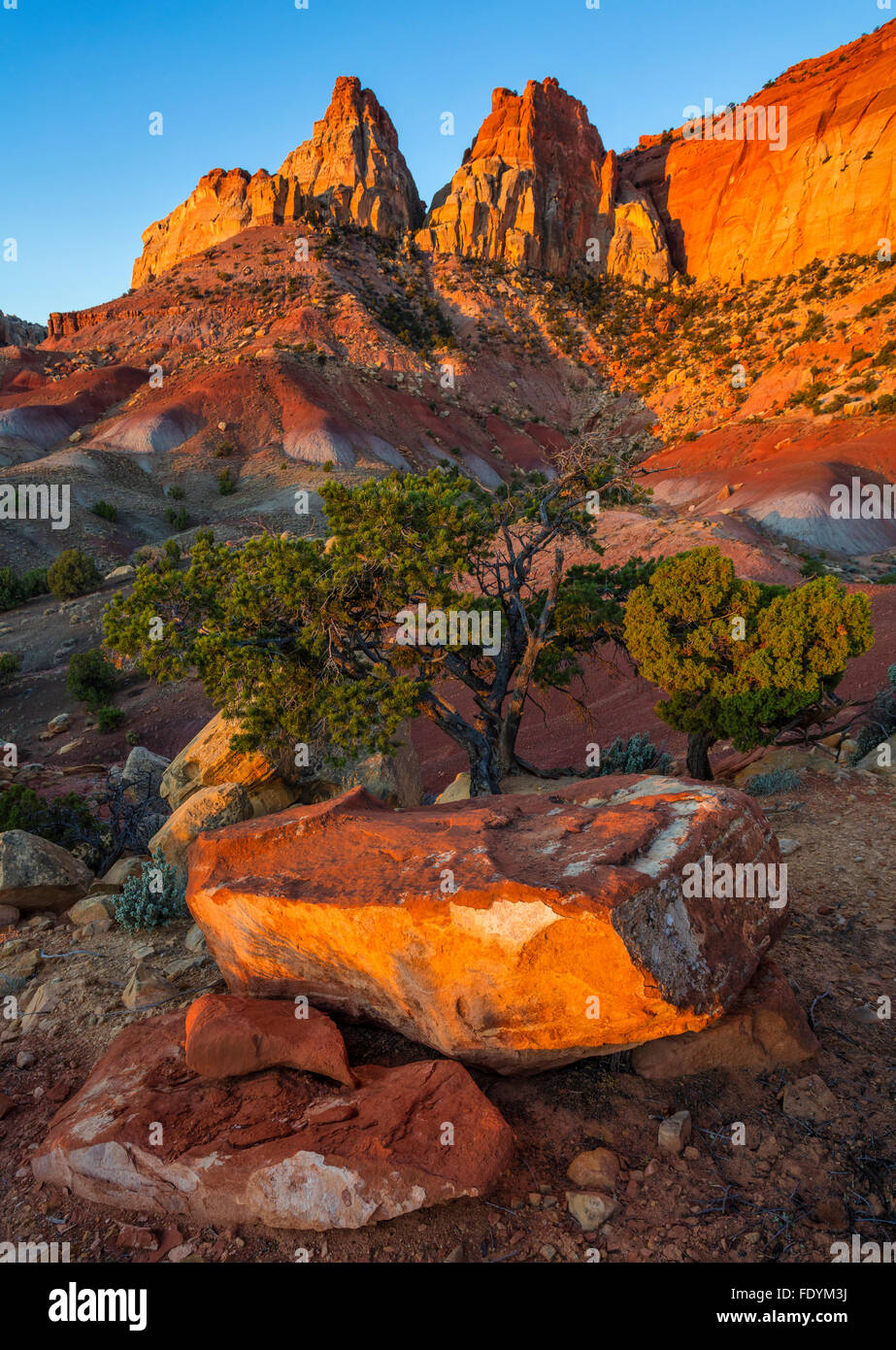 Grand Staircase-Escalante National Monument, UT: Sunrise on Circle Cliffs Stock Photo