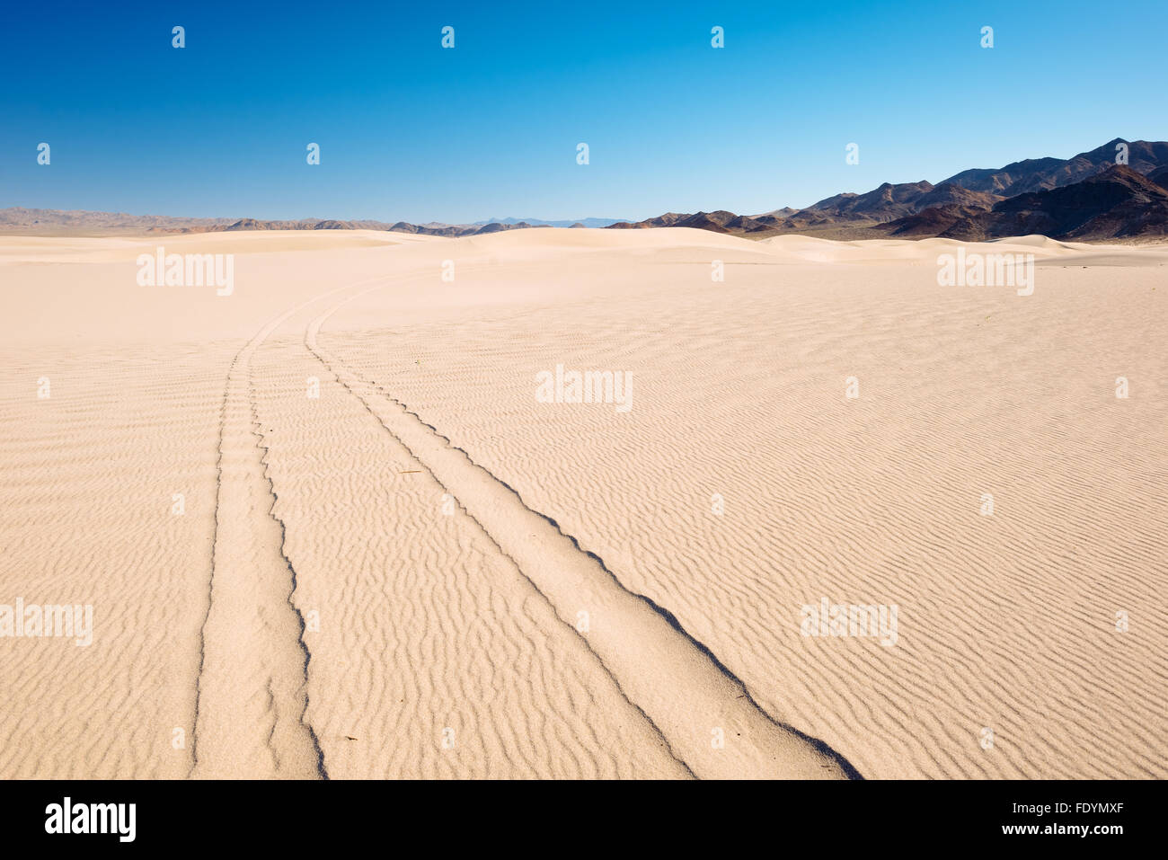 Dumont Dunes Off-Highway Vehicle Area, in the Mojave Desert of California - Stock Image