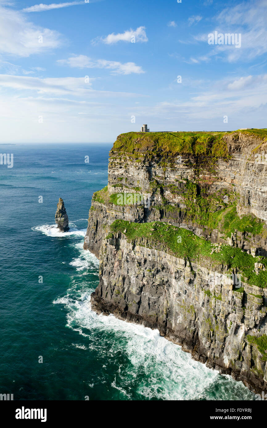 The Cliffs of Moher, County Clare, Ireland. - Stock Image