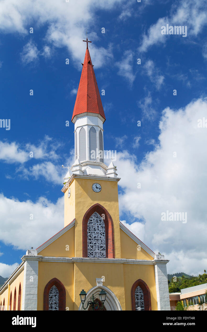 Notre Dame Cathedral, Pape'ete, Tahiti, French Polynesia Stock Photo