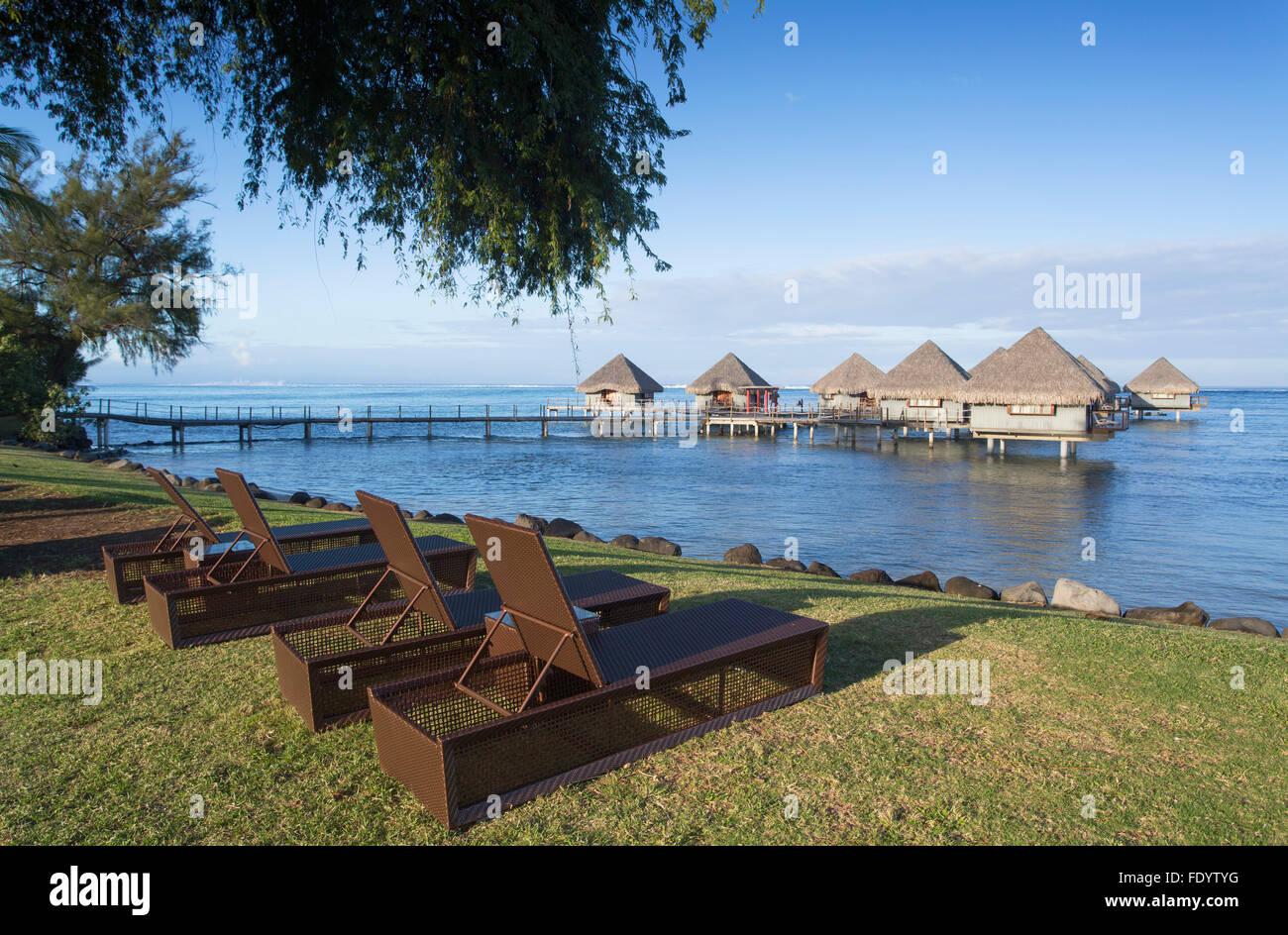 Le Meridien Tahiti Hotel, Pape'ete, Tahiti, French Polynesia - Stock Image