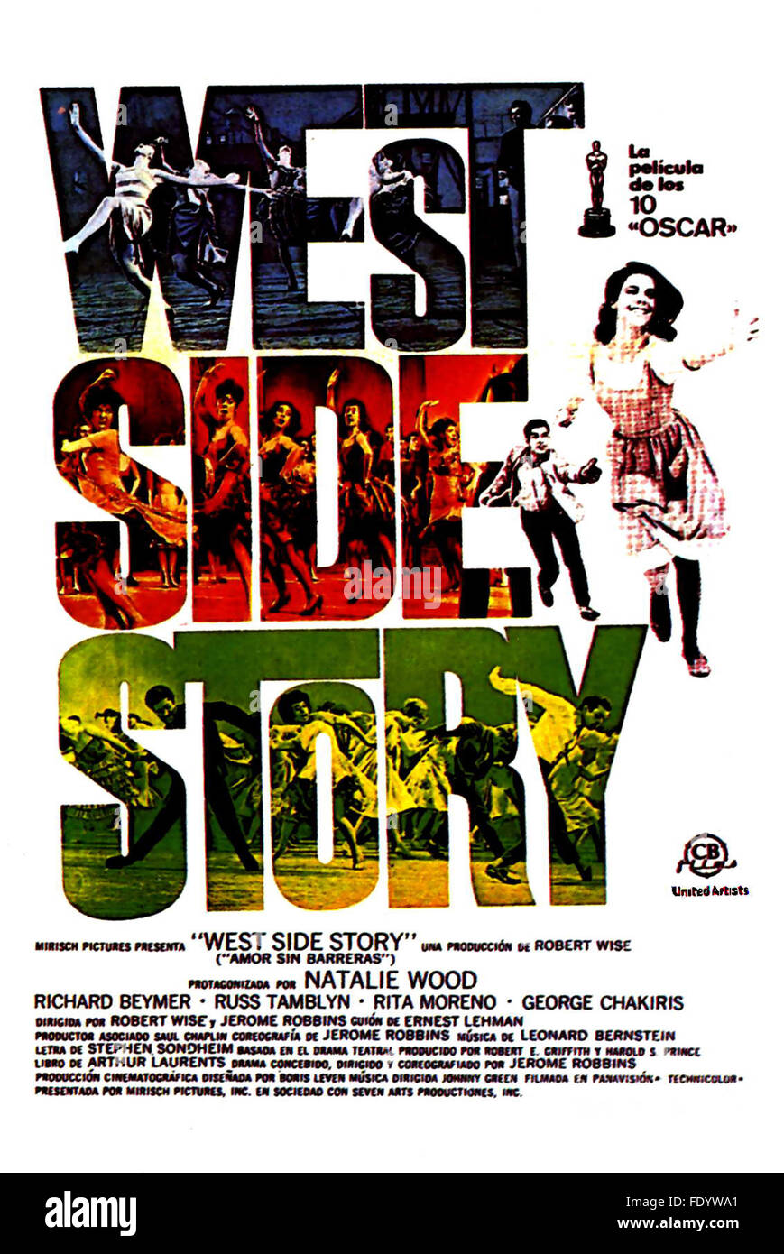 West Side Story Spanish Movie Poster Stock Photo