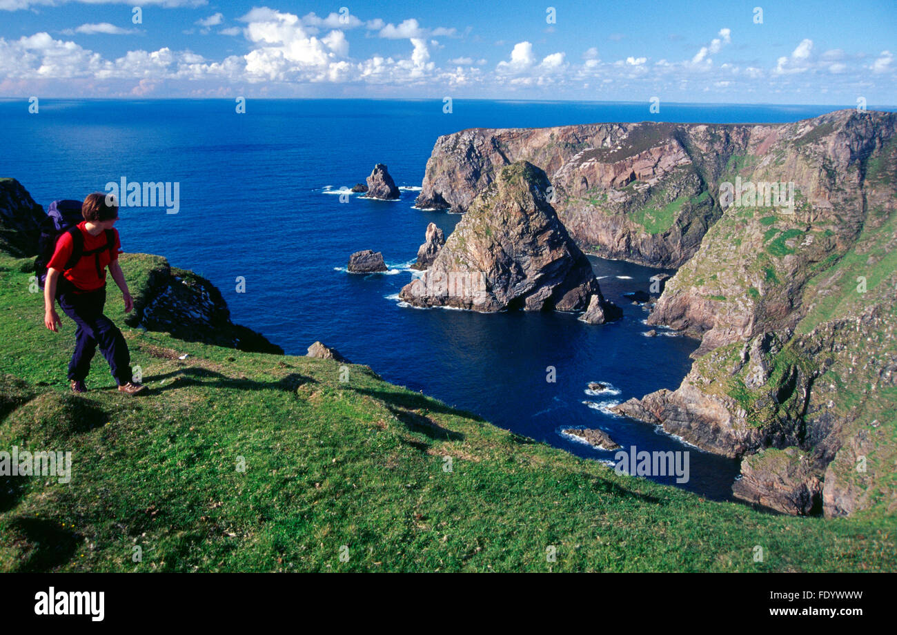 Walking On Arranmore Island County Donegal Ireland Stock Photo Alamy