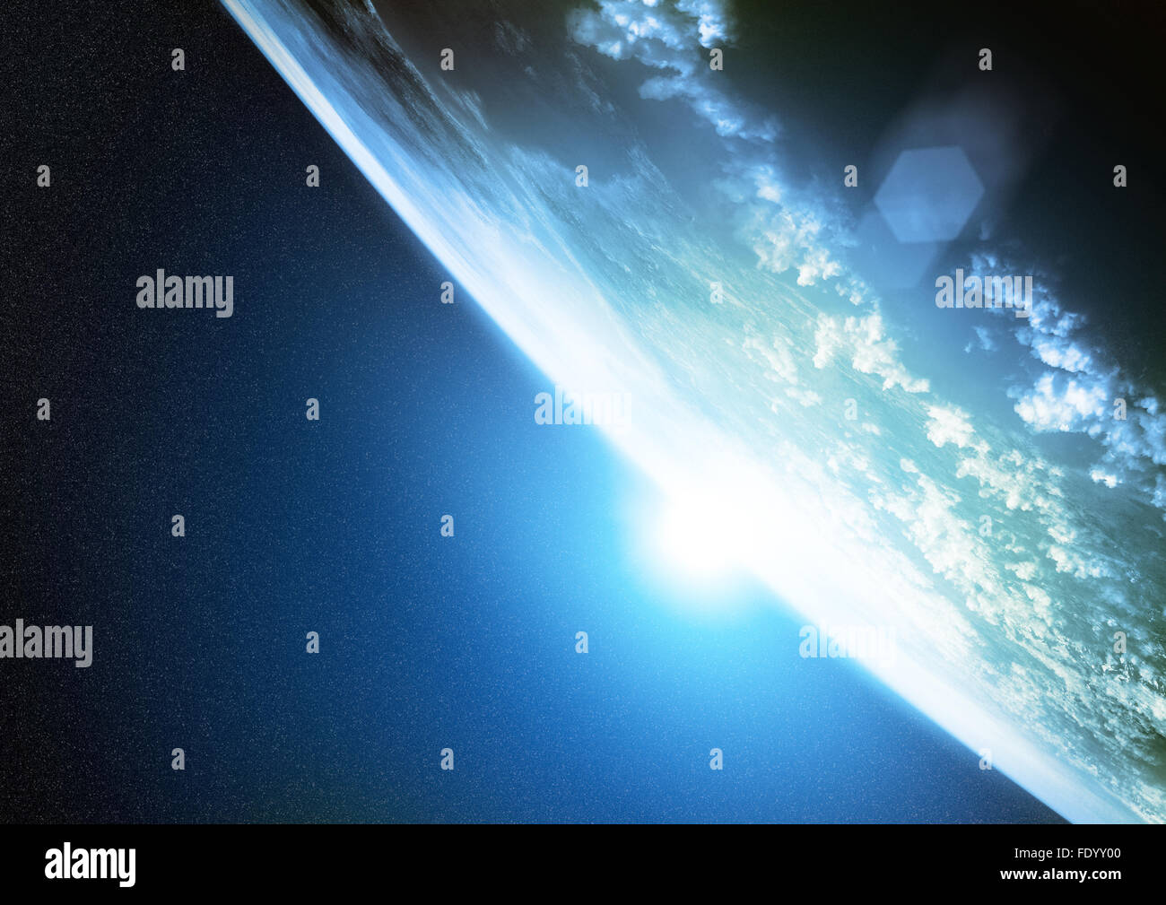 Planet Earth. Illustration of our planet as seen from space. - Stock Image