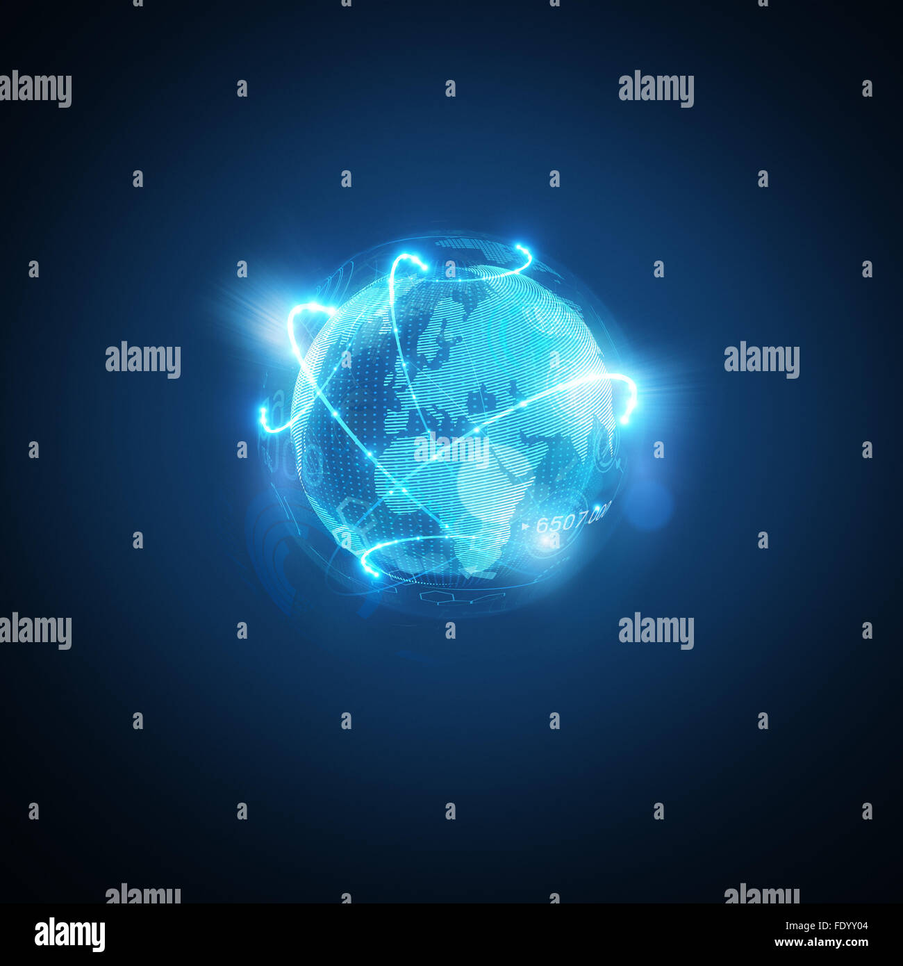 Connected World. Conceptual business  illustration. - Stock Image
