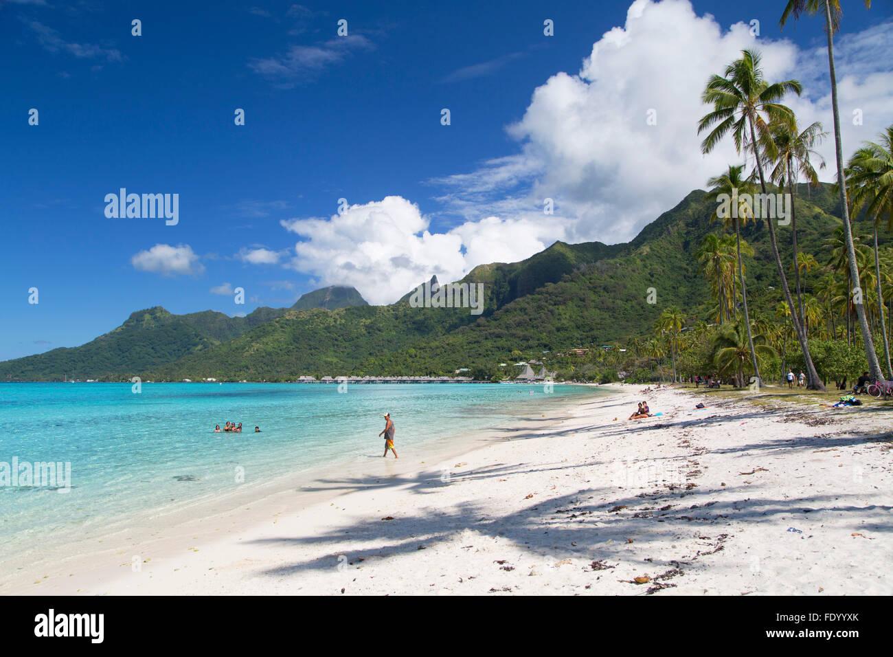 Temae Beach, Moorea, Society Islands, French Polynesia - Stock Image