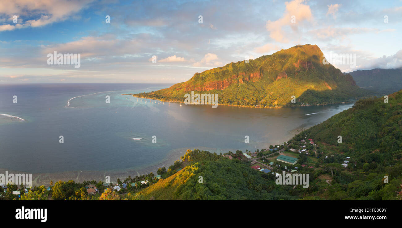 Opunohu Bay, Mo'orea, Society Islands, French Polynesia - Stock Image