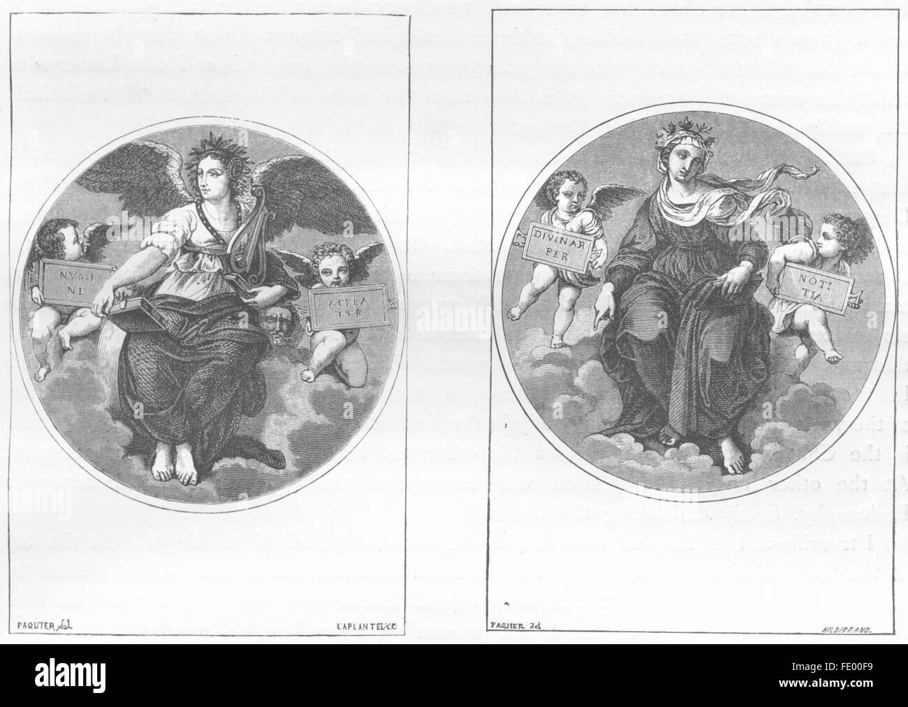 VATICAN: Poetry: Theology, antique print 1872 - Stock Image