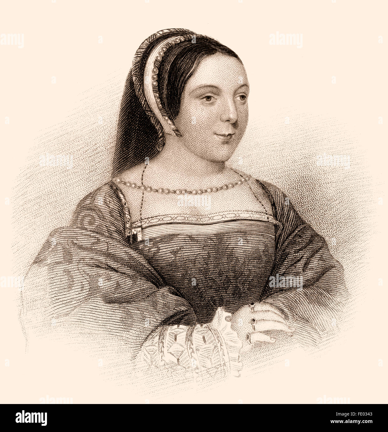 Margaret Tudor, 1489-1541, Queen of Scots from 1503 until 1513 as the wife of King James IV of Scotland - Stock Image