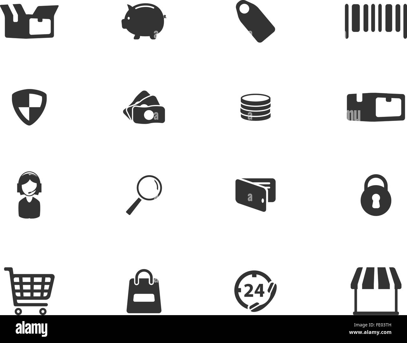 E-commerce simply icons - Stock Image