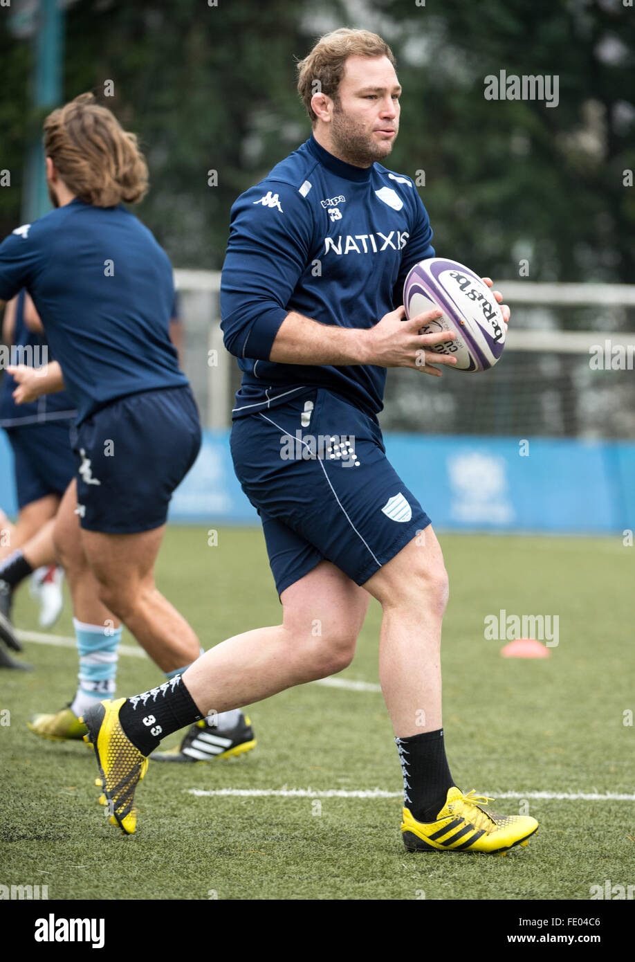 Hong Kong, China. 03rd Feb, 2016. ANTOINE CLAASSEN of French rugby union team, Racing 92 from Paris, during training - Stock Image